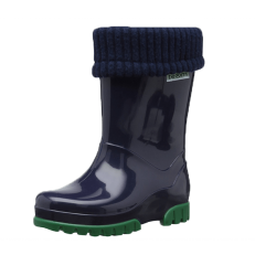 Term Roll Top Welly (Navy)